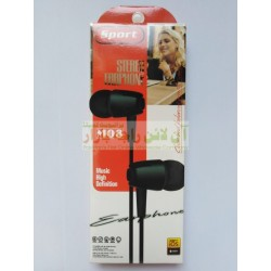 Stereo Earphone M-08 with Clean & Balanced Sound
