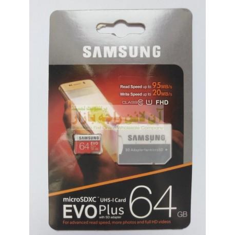 Samsung Evo Plus 64GB Memory Card Class-10