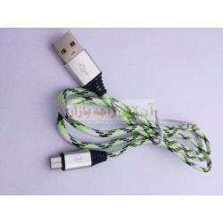 Cotton Skin Metal Head Data Cable 8600