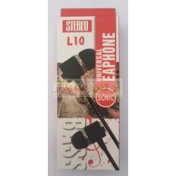 Sonic Flexible Wire Universal Earphone L-10