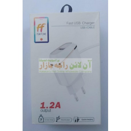 FunFone Fast Usb Charger 1.2A