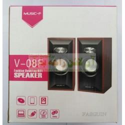Music-F Desktop Multimedia Wooden Speakers V-08F