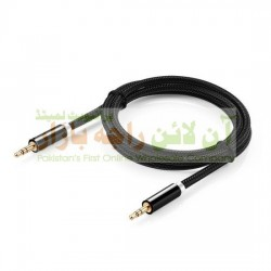 Strong Quality Cotton Made Metal Head AUX Cable