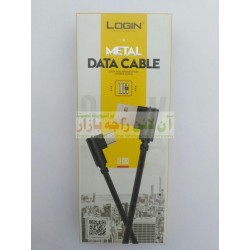 Login L-Shaped Metal Data Cable for iPhone