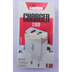 Hi-Power Auto-ID Dual USB Fast Charger 4.0