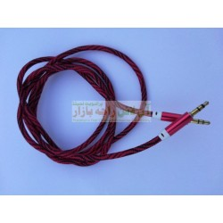 Strong Quality Cotton Skin Metal Head AUX Cable