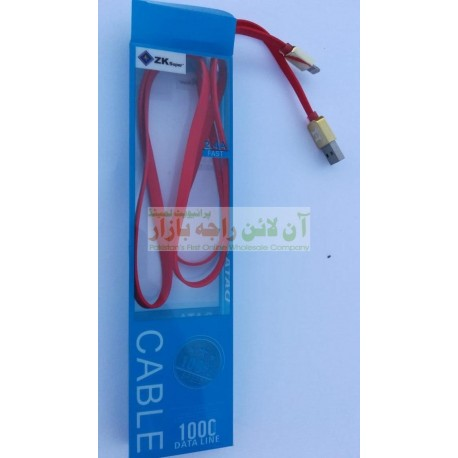 ZK Super Flexible Shine Head Strong iPhone Data Cable