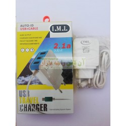 IML USB Travel Charger Auto ID Fast Charging 3USB 2.4A Micro 8600