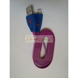 LED iPhone Data Cable Flat Ribbon