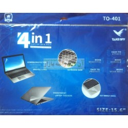 New 4in1 Protection Sheets for Laptop (Front, Back, Keyboard, Mouse)