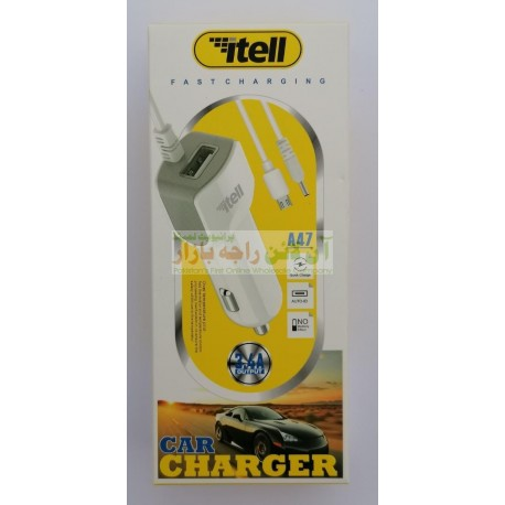 itell Fast 2in1 Car Charger with USB Option A-47