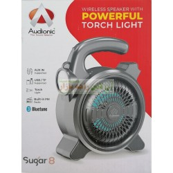 Audionic Rechargable Wireless Mp3 Speaker Sugar-8 with Powerful Torch Light