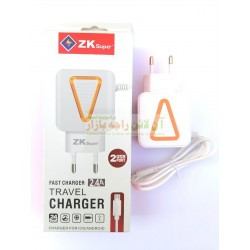 ZK Super 2-Ports Fast LED Charger 2.4A
