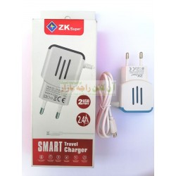 ZK Super 2-Ports Smart Travel Charger 2.4A