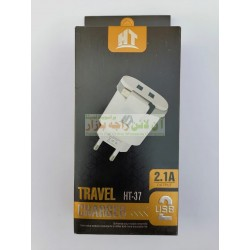 HT Fast 2-Ports Travel Charger 2.4A HT-37