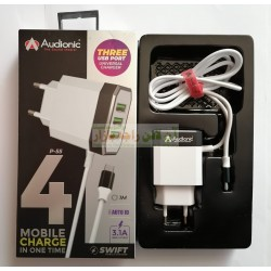 Audionic Swift 4in1 High Power 3.1A Charger P-55