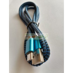 Quick Charge Cotton Core Metal Head Data Cable 8600