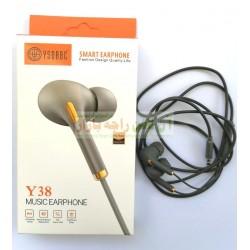 YSDBBC Rubber Core Smart Stylish Earphone Y-38