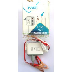 Royal 7in1 DC Clamp Fast Charger 4.0A