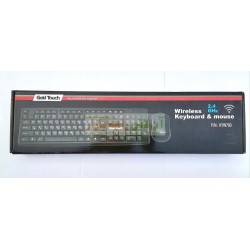 Gold Touch Soft Button Wireless KeyBoard & Mouse KYW-700