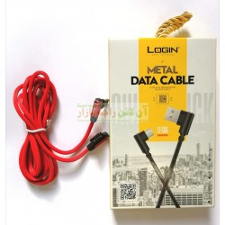 Login L-Shaped Fast Charging Type-C Data Cable LT-C65