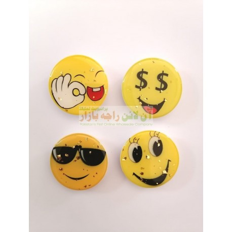 Glitter Face Mobile Back Ring Clip In Different Designs