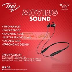 itel Original Moving Sound Wireless Magnetic Neckband IEB-52