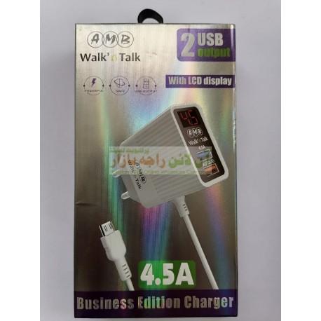 AMB Digital Display Dual Usb 4.5A Heavy Duty Charger 8600