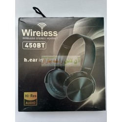 Soft Grip Hi-Resolution Extra Bass Wireless Stereo Headset 450-BT