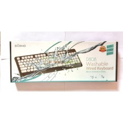 BORND High Quality Responsive Key WashAble Wired KeyBoard D-808