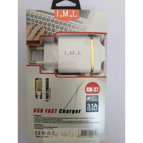 IML 3USB Auto ID Fast Travel Charger 3.1A Micro 8600