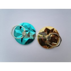 Stylish Round 3D Shining Back Ring for Mobile