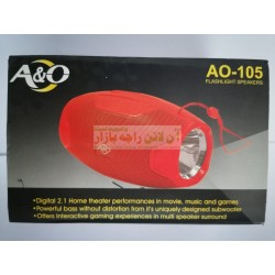 Powerful Sound Gaming Wireless Speaker with Torch Light AO-105