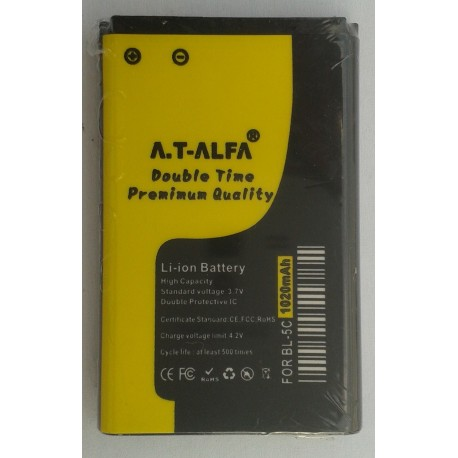 AT ALFA BL-5C Premium Battery (Double Time)
